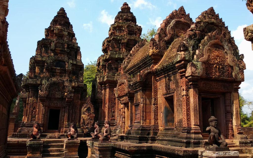 Im Inneren von Banteay Srei