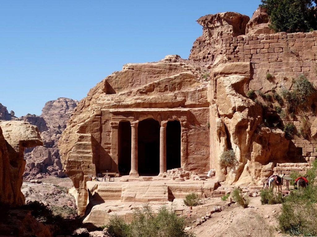 Der Gartentempel im Wadi Farasa