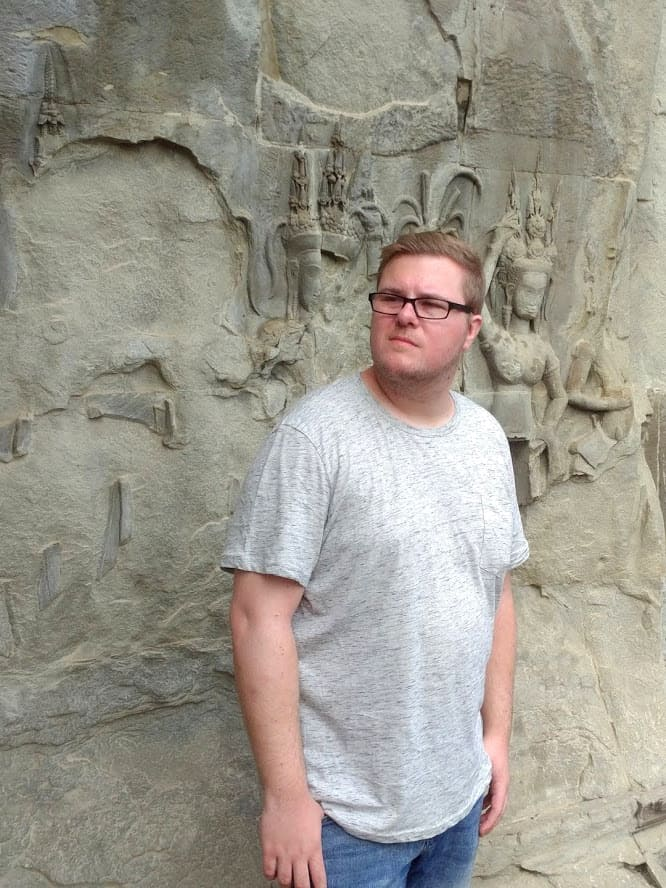 Marc Möllmann in Angkor Wat