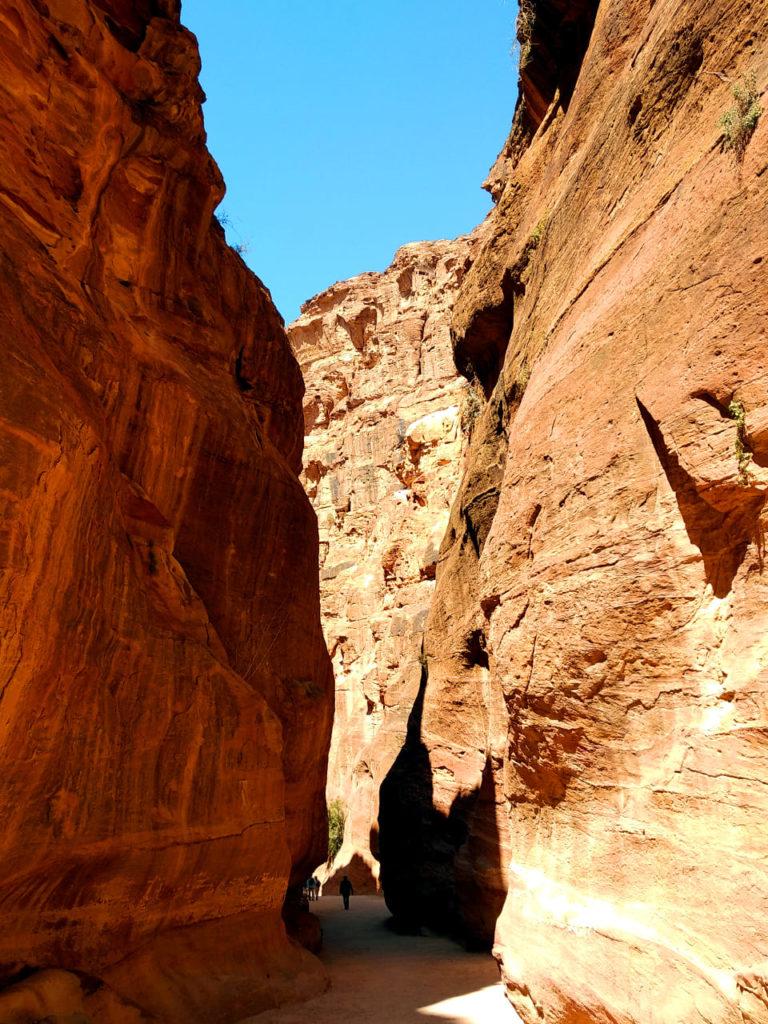 Der Siq in Petra, Jordanien