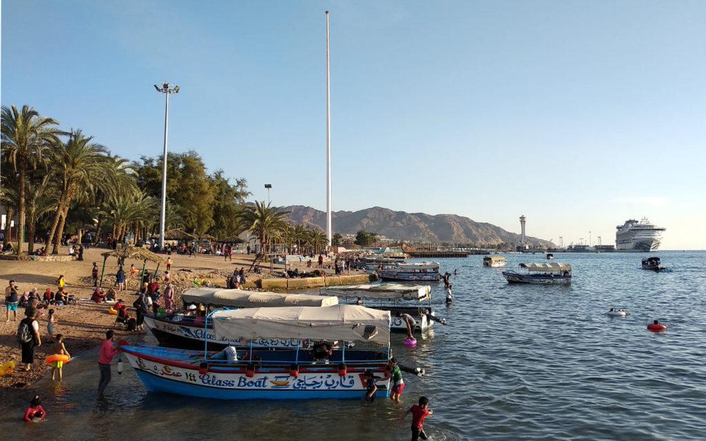 Am Stadtstrand von Aqaba