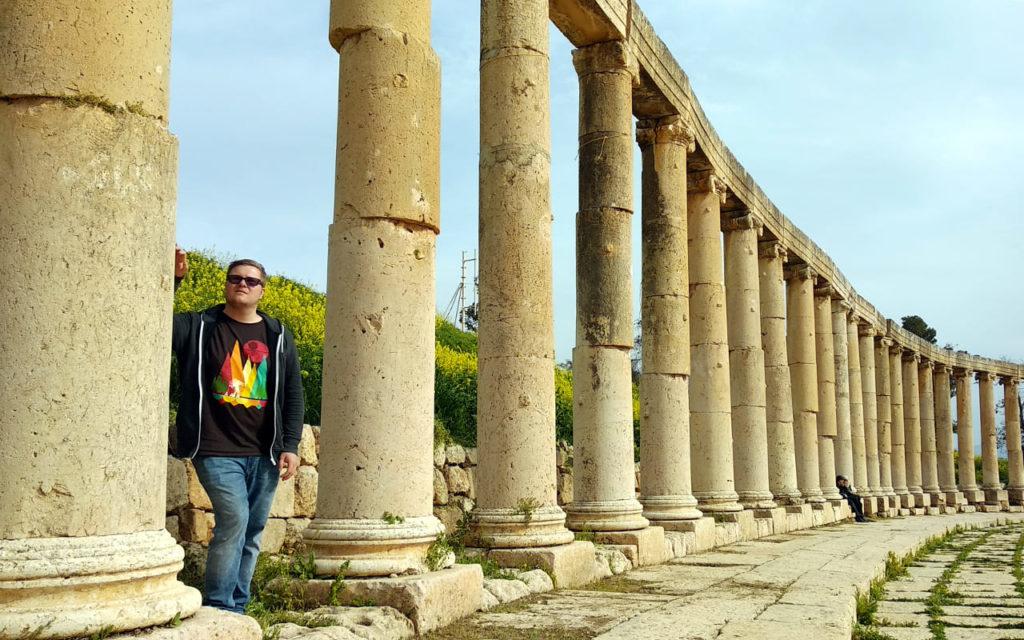 Antike Säulen in Jerash