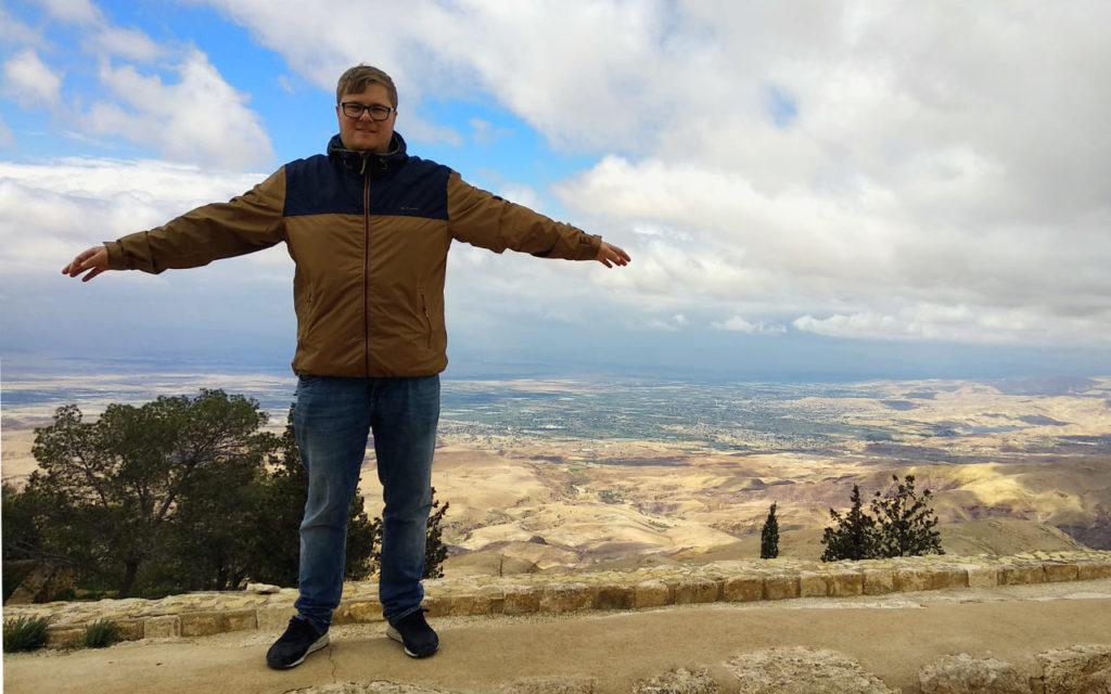 Marc Möllmann am Mount Nebo