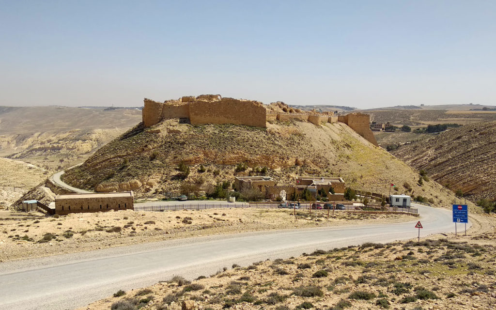 Die Burg von Shobak in Jordanien